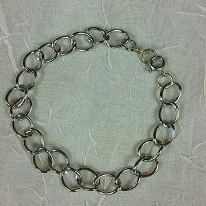 "Silver curb chain bracelet 7.5"""